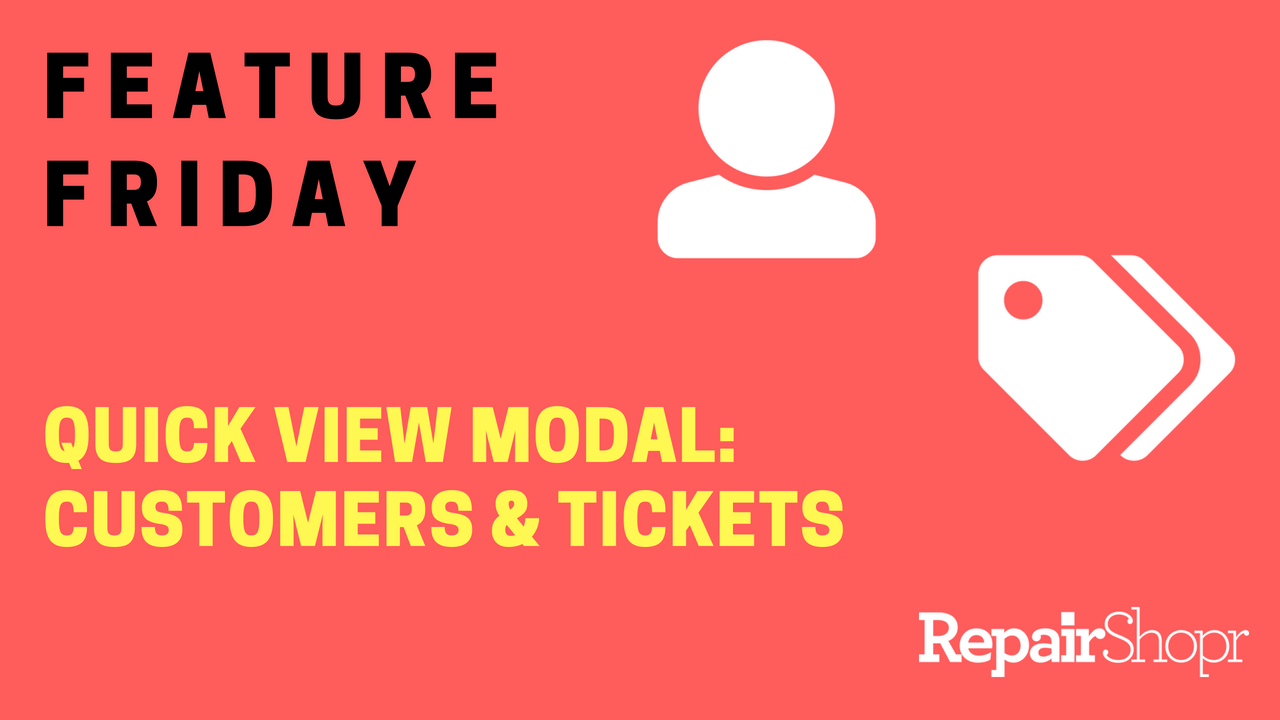 Quick View Modal in Customers and Tickets