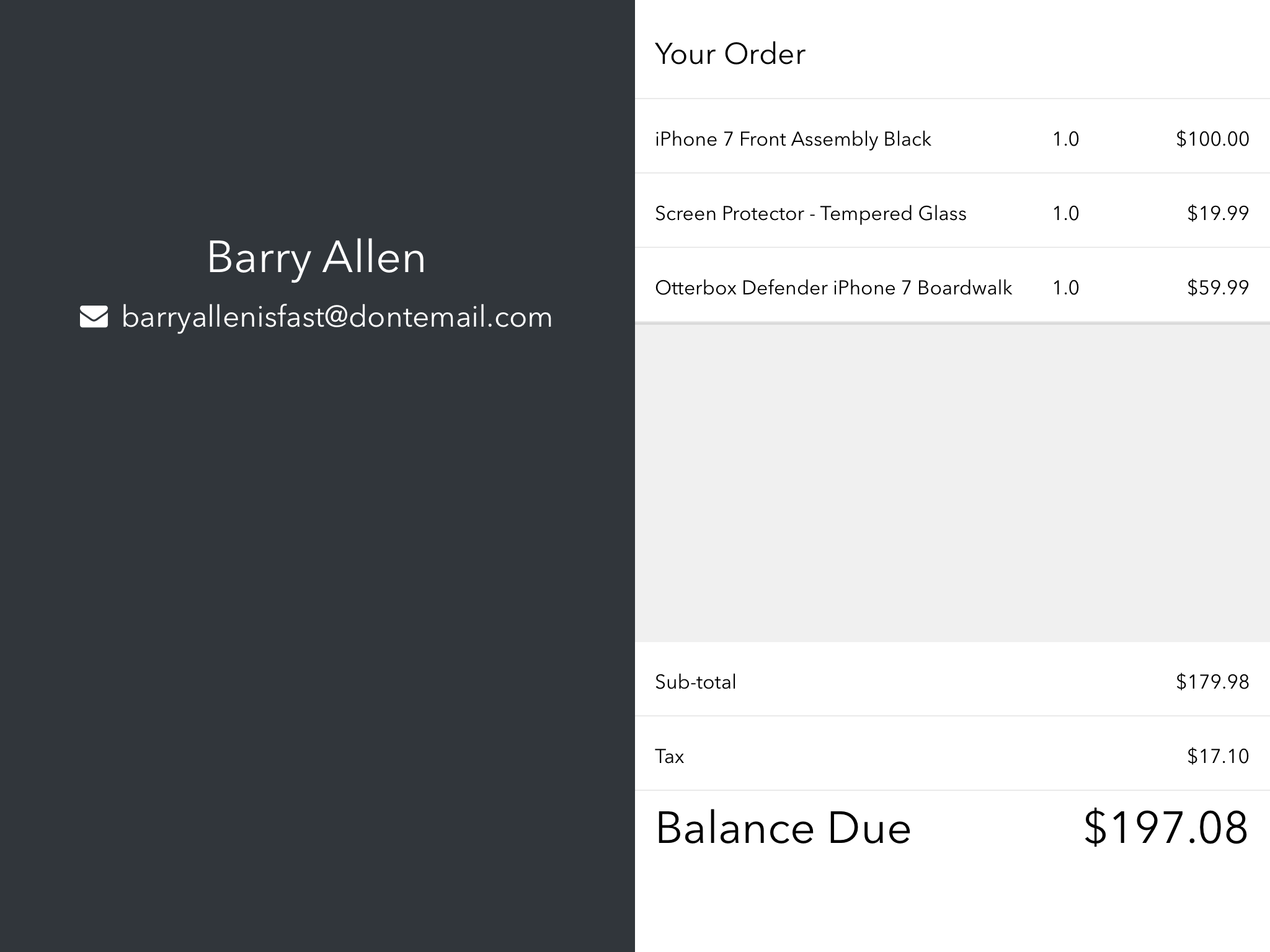 Adding Line Items to an Invoice in POS Second Screen App