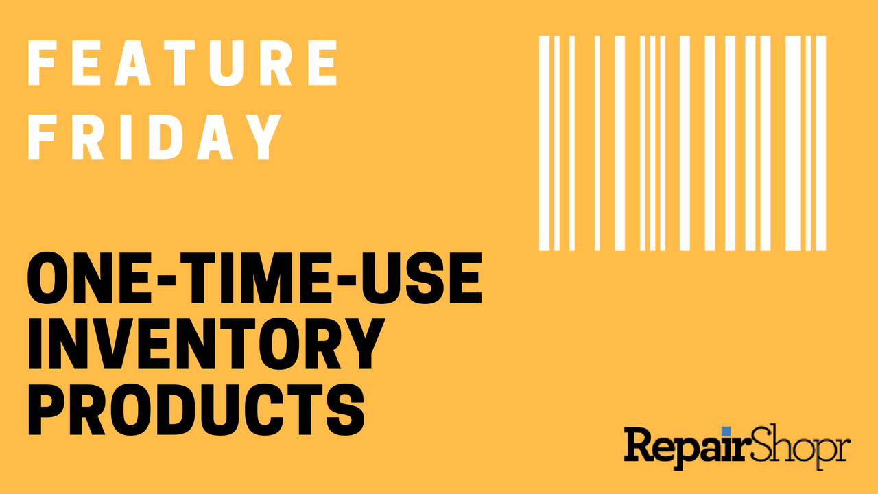 one-time-use inventory products