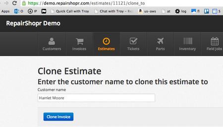 Estimate Clone