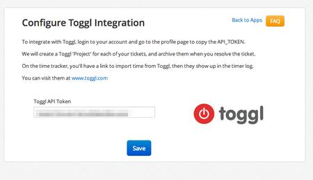 Toggl App2 Config