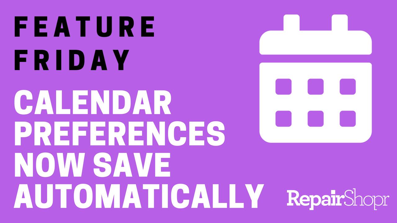 calendar view preferences