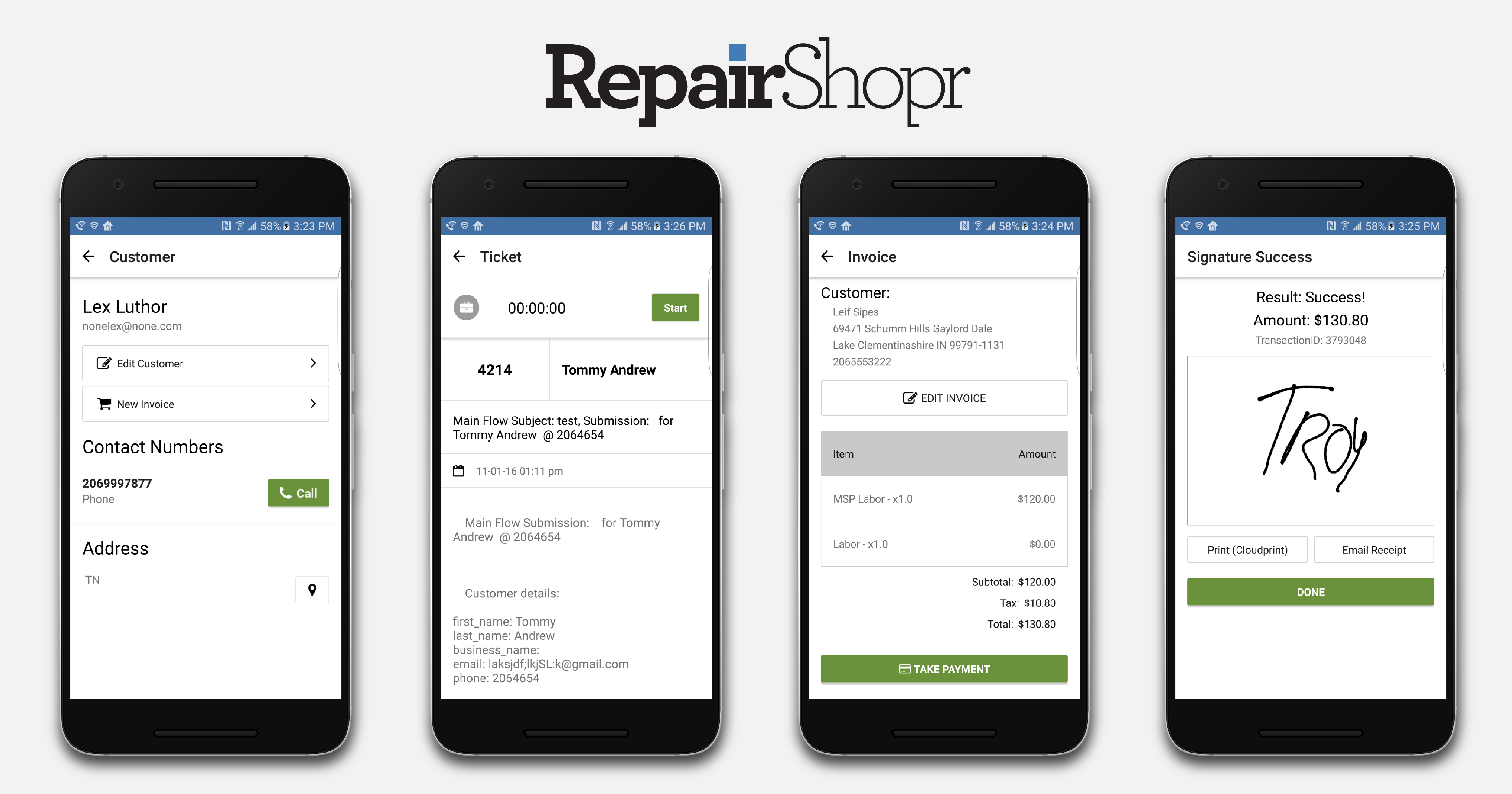 Recent updates from RepairShopr for 2016-12-09