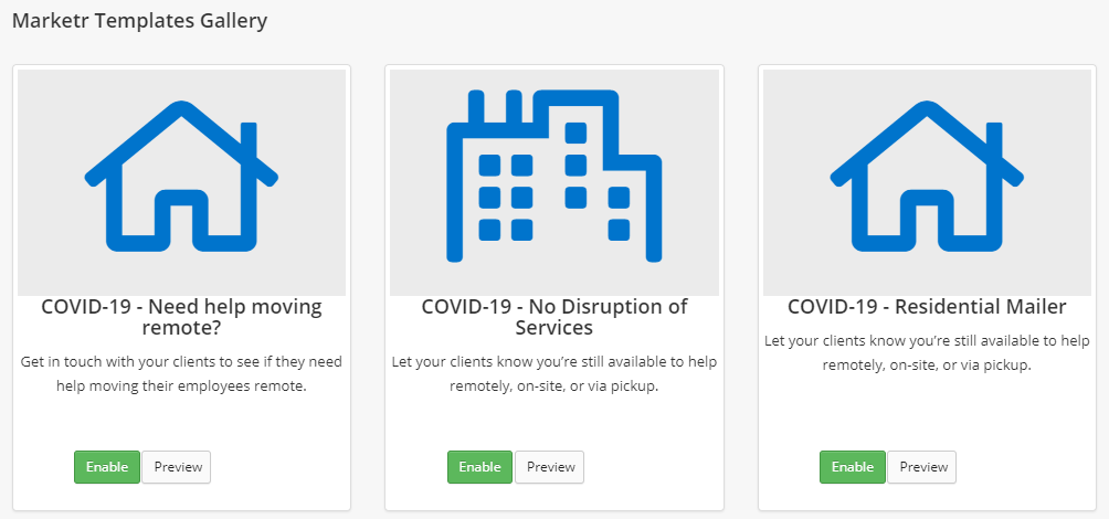 Feature Release – New Marketr Templates for Covid-19 Check-in with Customers